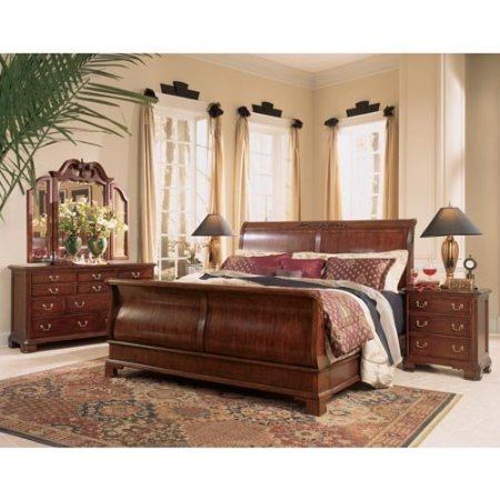 Sleigh bed frame on sale home decor and furniture deals for Bedroom furniture packages sale
